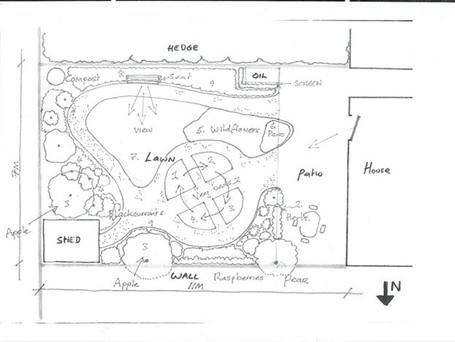 Sketch for a small garden