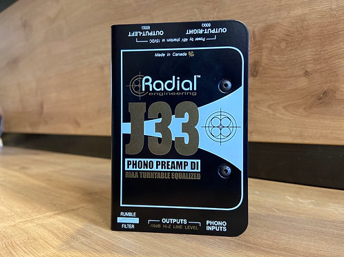 RADIAL J33 PHONO PREAMP D.I BOX