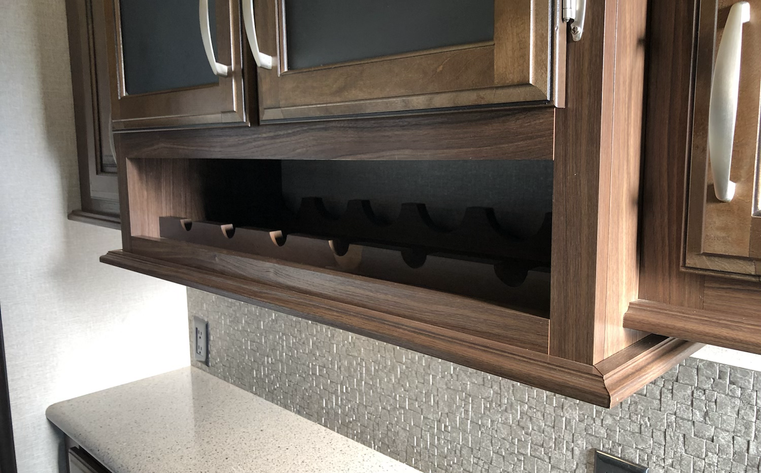 Wine rack in kitchen