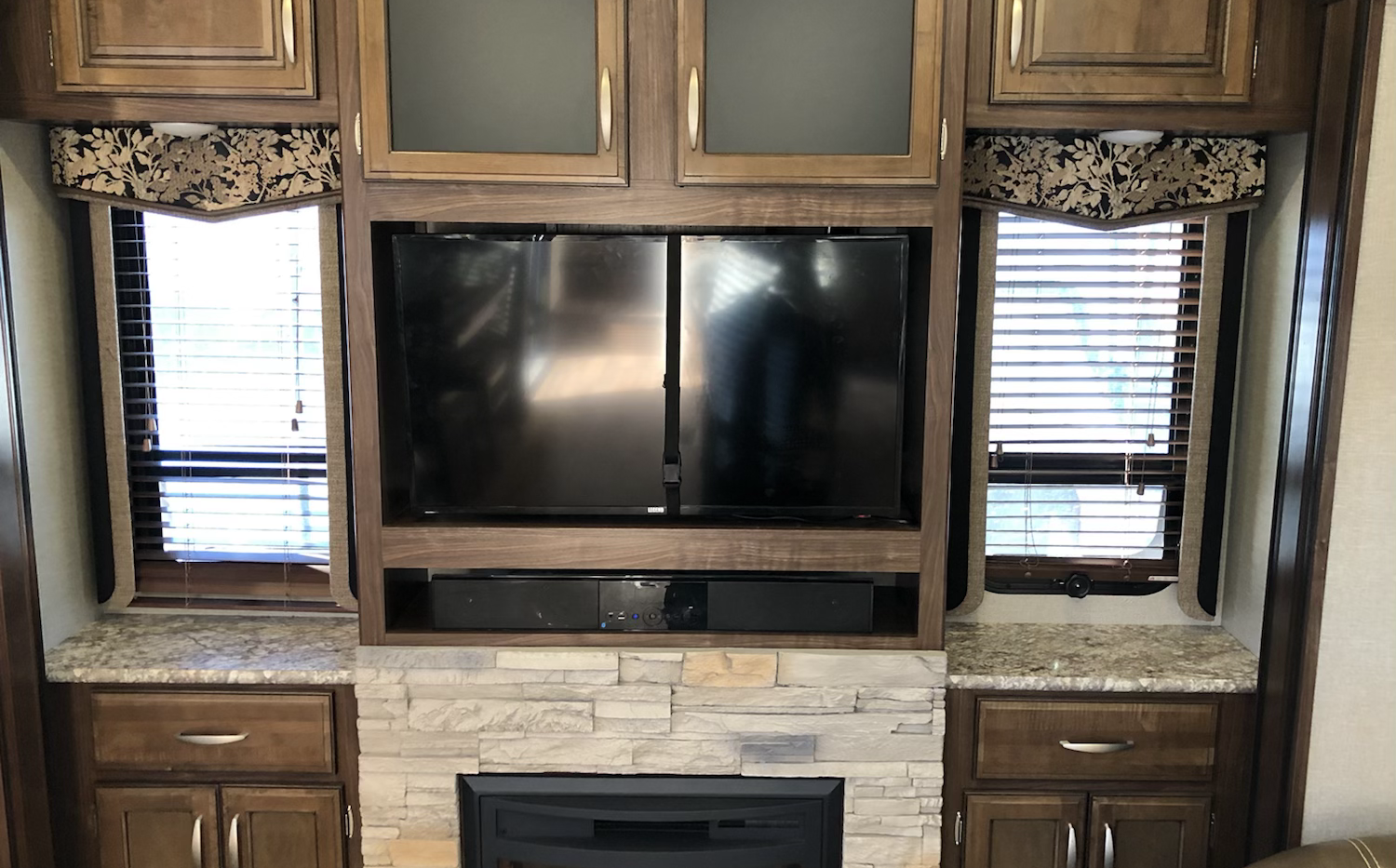 Entertainment Center in living area