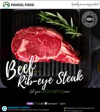 Pansol Food (Beef Rib-eye Steak)