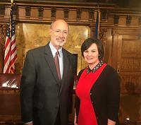 Lori Lesante and PA Governor Tom Wolf.pn