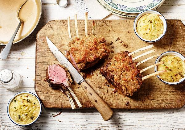 Lamm nuss feigen kruste Foodstyling Food