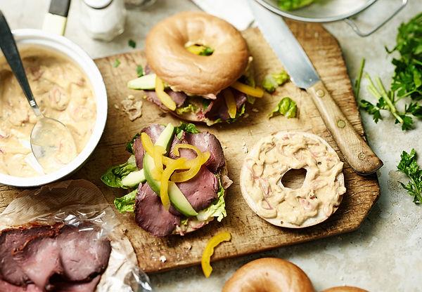 Roastbeef bagel avocado Foodstyling Food