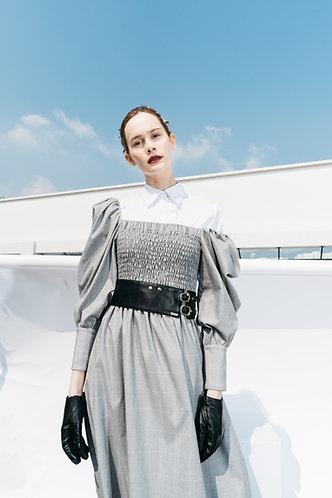 Grey Smocking Dress