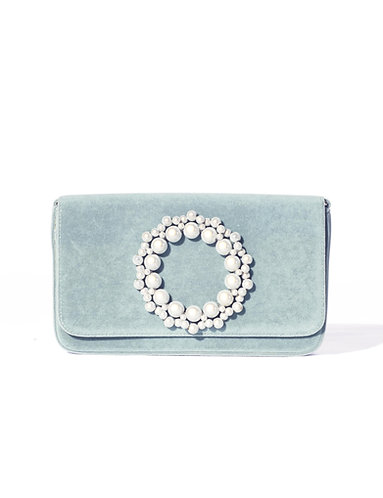 Violacea Clutch Velvet Bag Mint