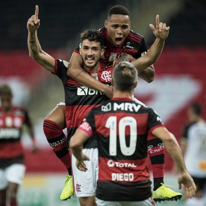 Gustavo Henrique e Natan formaram a dupla de zaga do Flamengo. (Foto: Flamengo)