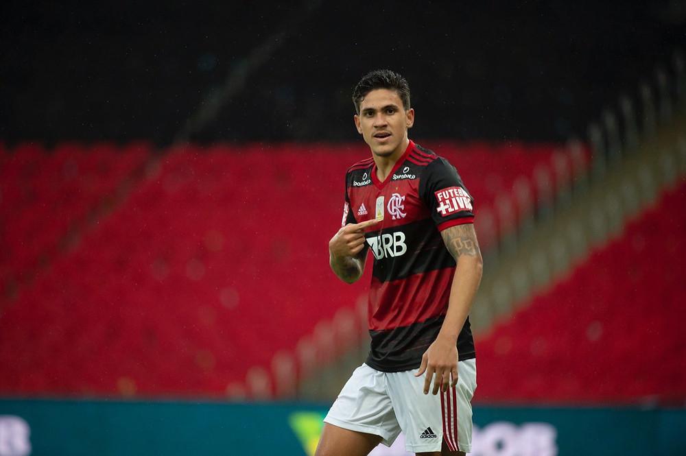 Pedro marca mais uma vez. (Foto: Flamengo)