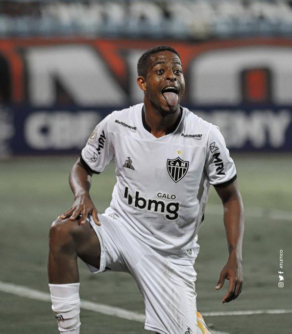 Keno festeja um dos seus gols. (Foto: Atletico)