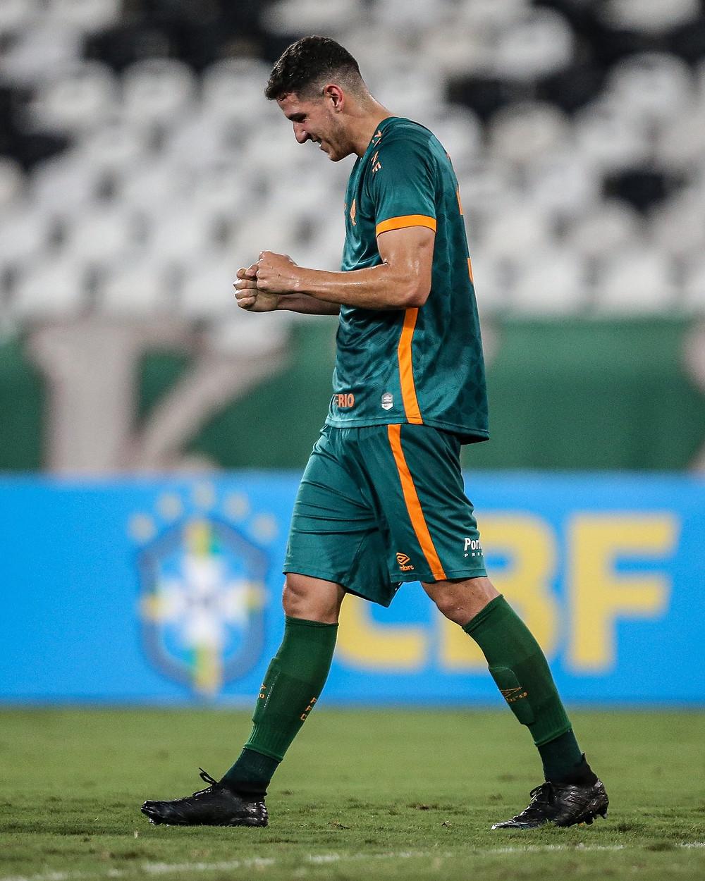 Nino festeja após marcar. (Foto: FluminenseFC)
