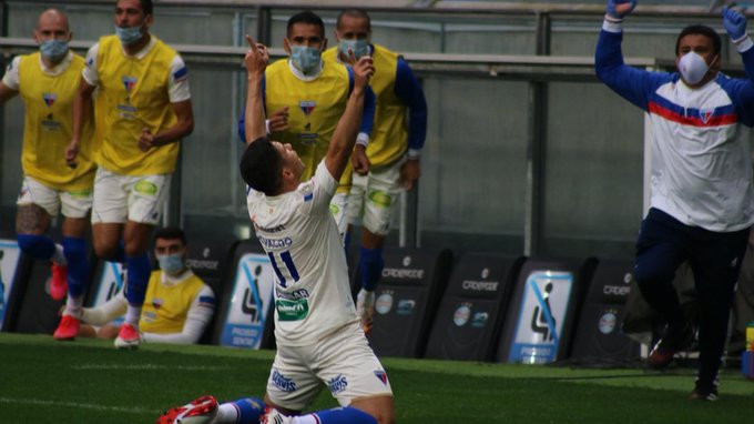 Osvaldo agradece por ter marcado. (Foto:FortalezaEC)