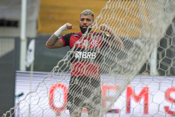 Gabriel deixou sua marca contra seu antigo clube. (Foto: Flamengo)
