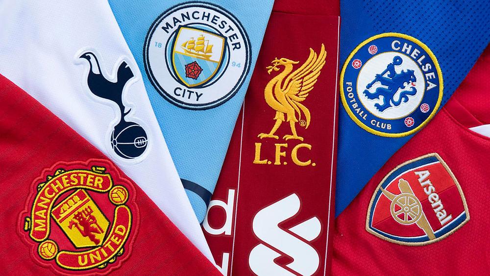 O top 6 da Premier League. (Foto: Getty Images)
