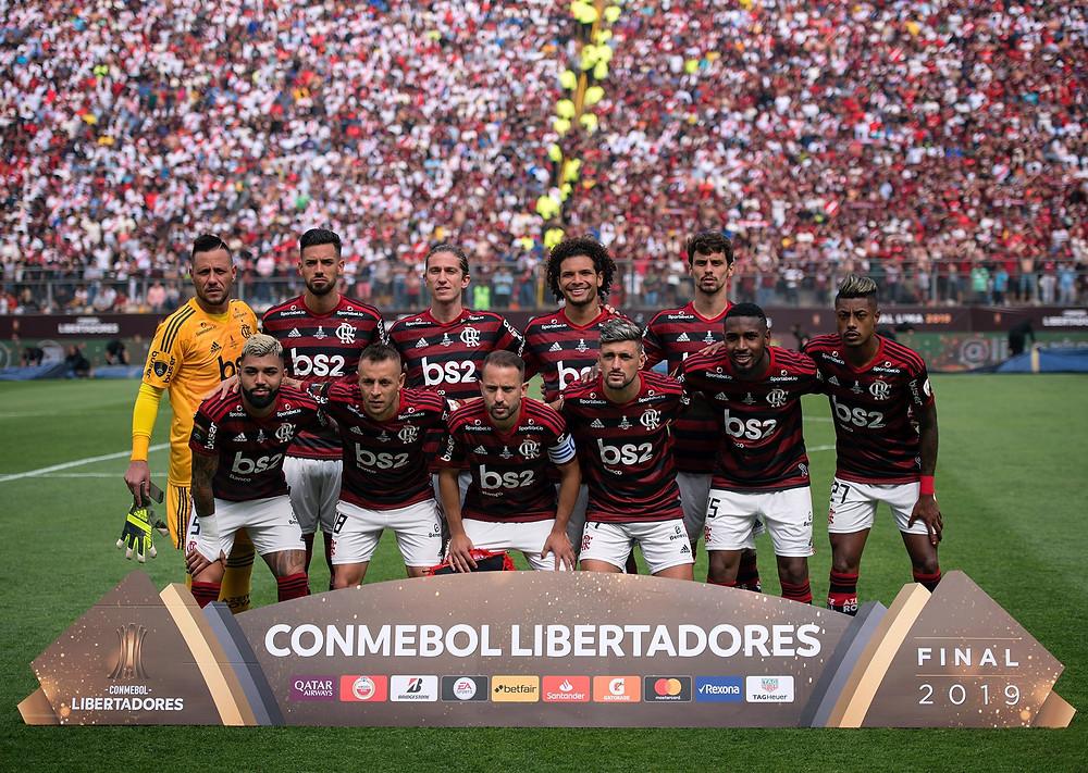 Equipe titular do Flamengo na final da Libertadores. (Foto: @delmirojunior)