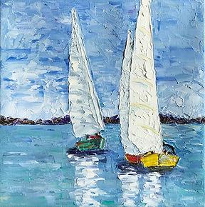 Two Sail Boats 8x8.jpg