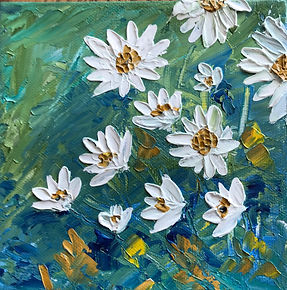 White Daisies on Teal 6x6.jpg