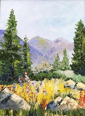 Mountain Wildflowers in Oil.JPG