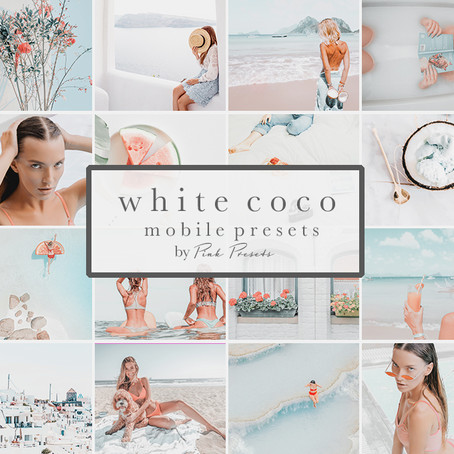 White Coco Lightroom Mobile Presets for Moms & Bloggers