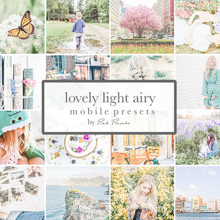 New Light & Airy Mobile Presets