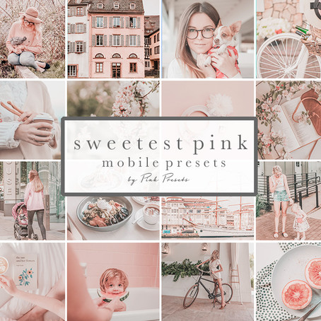 Sweetest Nude Pink Lightroom Presets Mobile for Bloggers