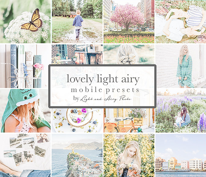 LIGHT & AIRY MOBILE PRESETS