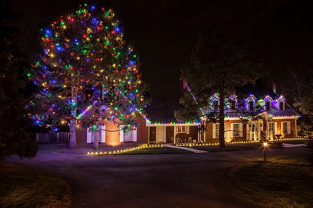 multicolor holiday lighting by gga texas