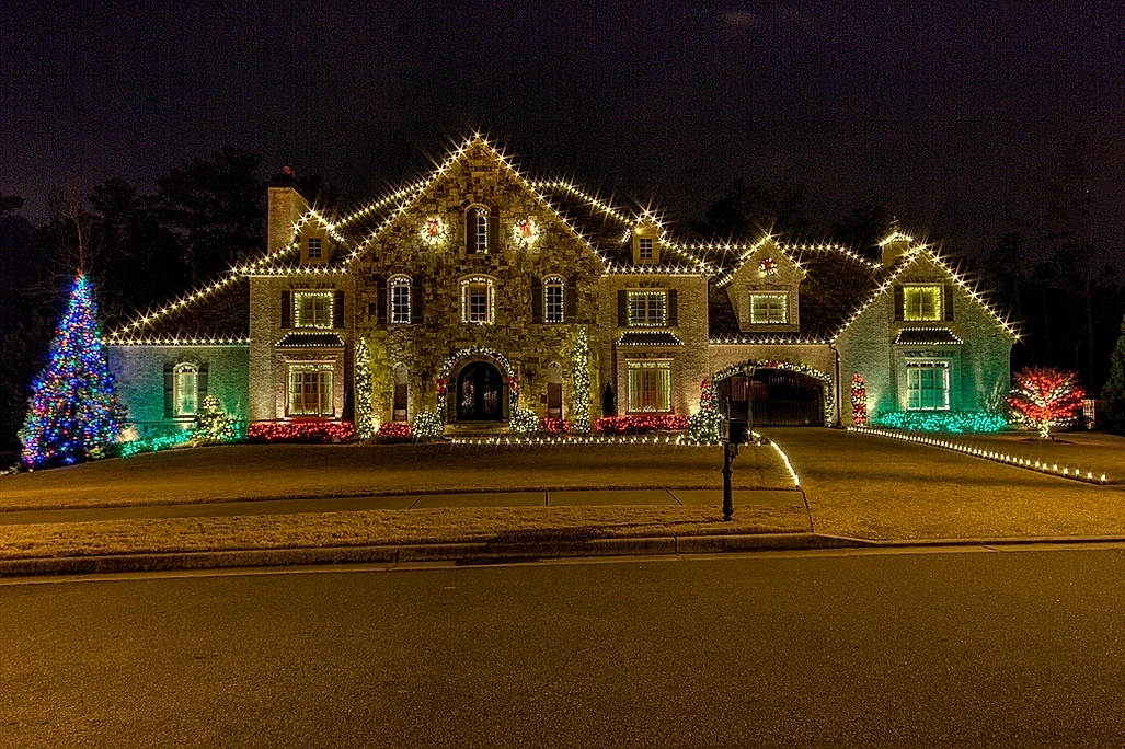 colorful holiday lghting by gga texas