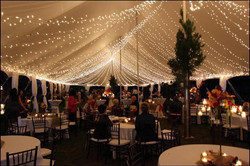 Indoor wedding event lighting by GGA
