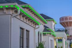 green inception lighting install
