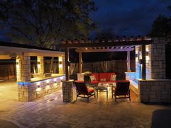 backyard landscape lights in texas
