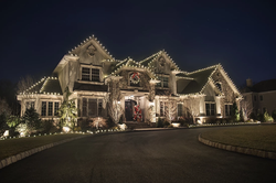 classic white lights christmas lighting