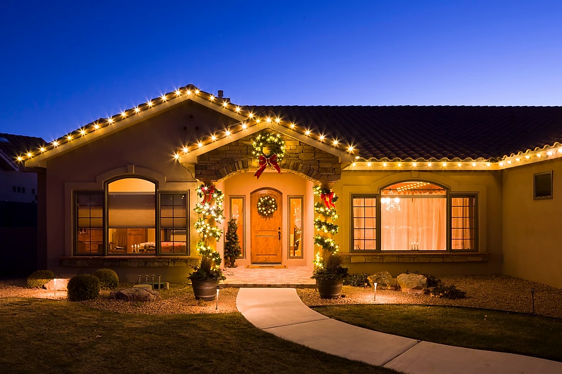 simple holiday lighting by gga texas
