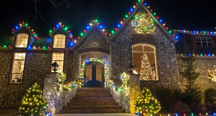 multicolor christmas lighting