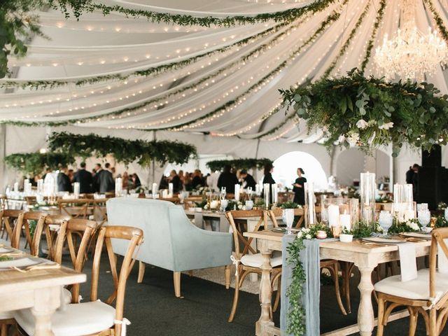 earthy wedding lighting design