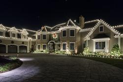 residential christmas lights white