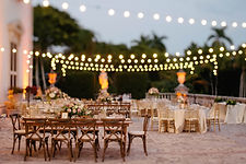 outdoor wedding lighting by GGA Central