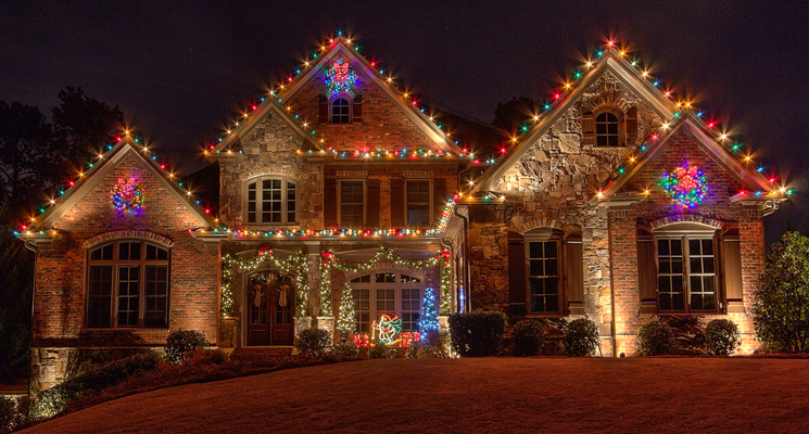 colorful holiday lighting