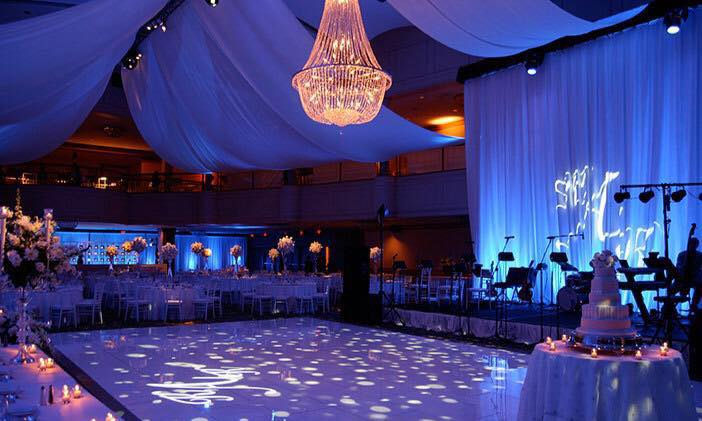 Colorful event lighting wedding gga texa