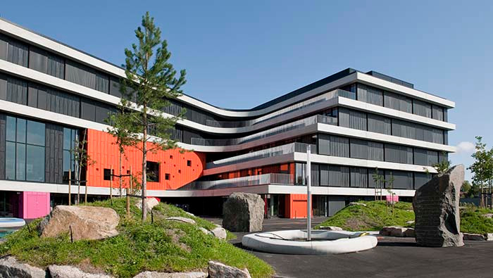 Thor Heyerdahl Secondary School, Larvik, Norway, with 1600 students and a staff of 300.