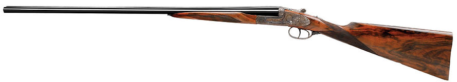 Hand made side by side shotgun by Thomas Ferney