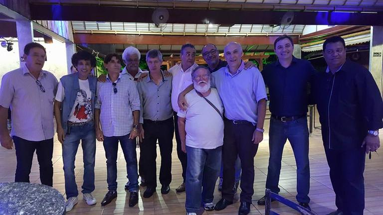 Gonzales, Laercio, Fuzo, Rangel, Defaveri, Davi, MAchadinho, Dernival, MManoel e Jota Neves