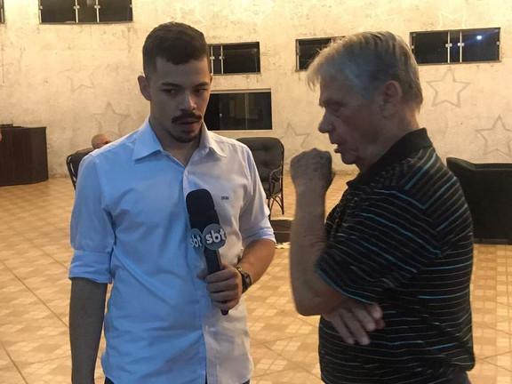 Pedro Panvéchio em entrevista ao SBT