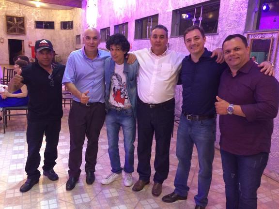 Nivaldo, Dernival, Laercio, Davi Mendes, Márcio Manoel e Glaucio