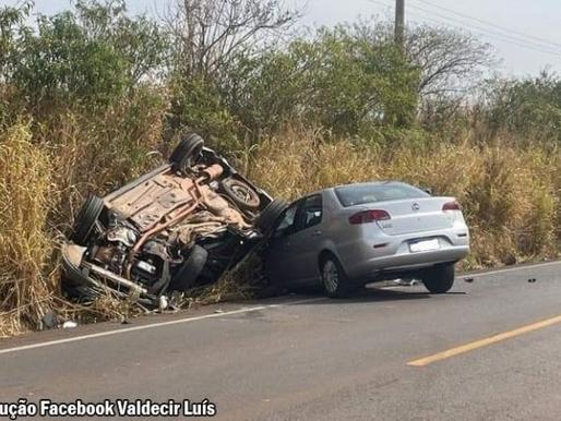 Cinco pessoas ficam feridas em acidente na Vicinal Bastos - Tupã