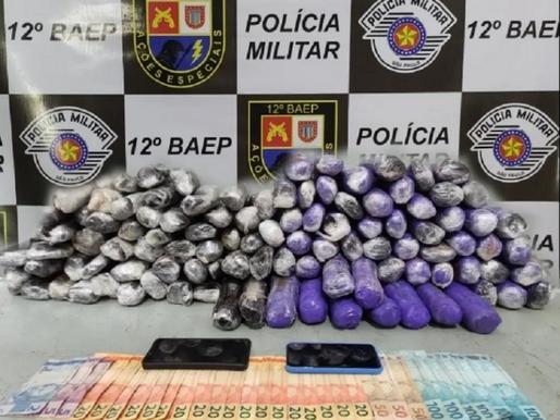Baep prende dupla de motociclistas com 29 tabletes de Haxixe