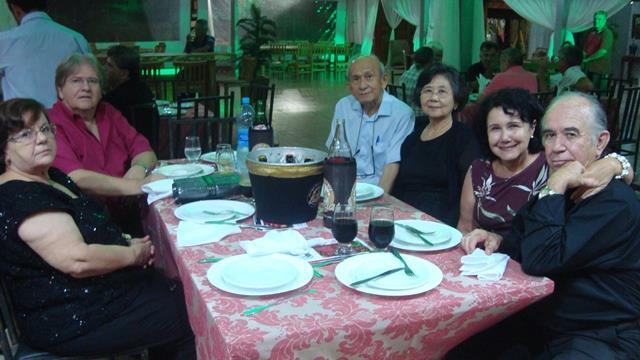 Silvio dos Santos Martins e esposa, Takao Kawakami e Esposa, Ednan e esposa
