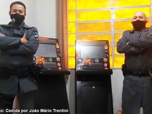 Polícia Militar de Pompeia apreende máquinas de jogo de azar em comércio