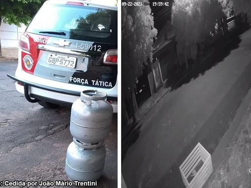 PM de Tupã localiza acusados de furto e recupera botijões de gás subtraídos