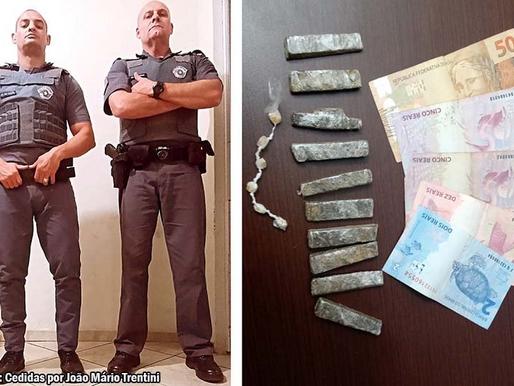 Polícia Militar de Queiroz prende indivíduo é apreende maconha e crack