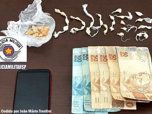 Polícia Militar de Tupã prende indivíduo de 18 anos por tráfico de droga